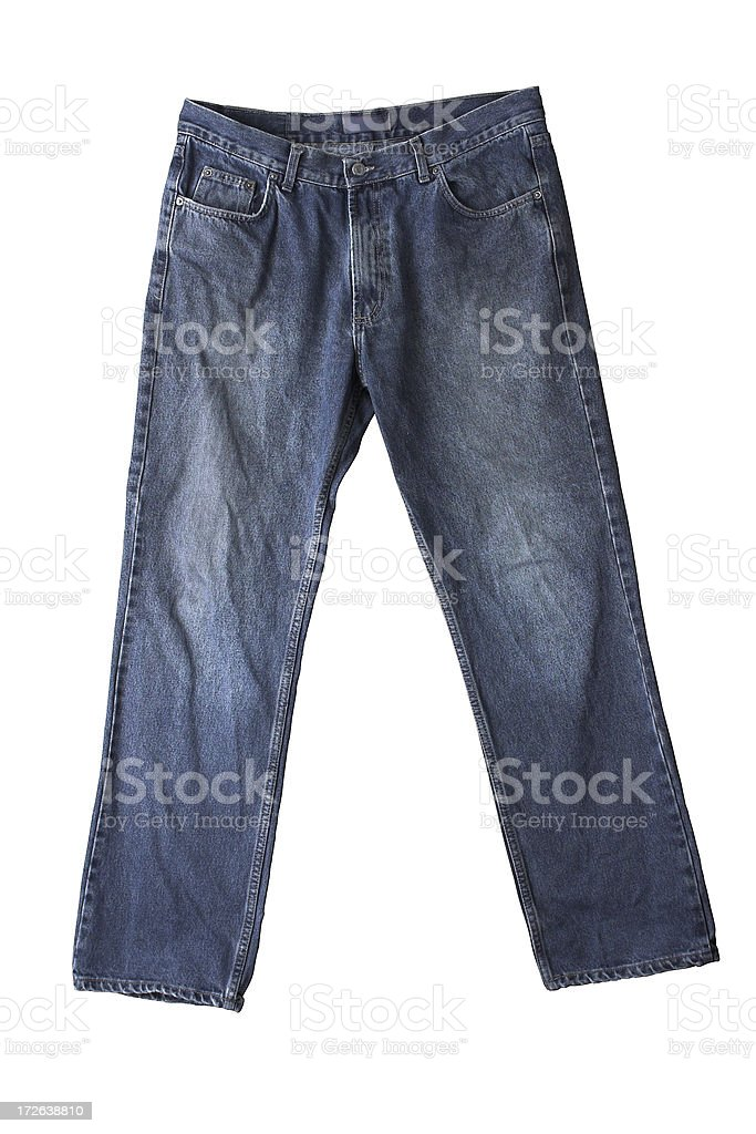 Jeans Isolated With clipping path royalty-free stock photo