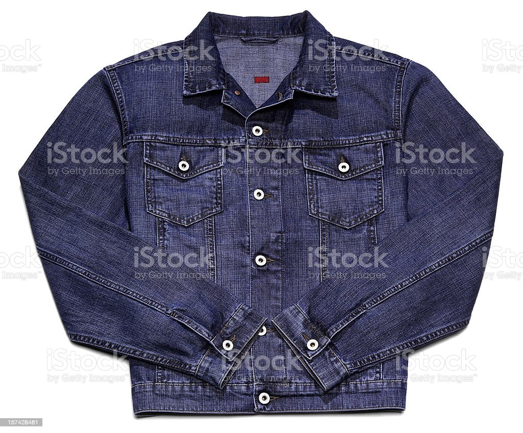Jeans jacket isolated on white royalty-free stock photo