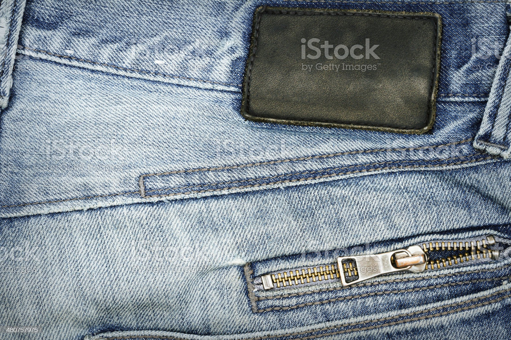 Jeans label on  jeans royalty-free stock photo