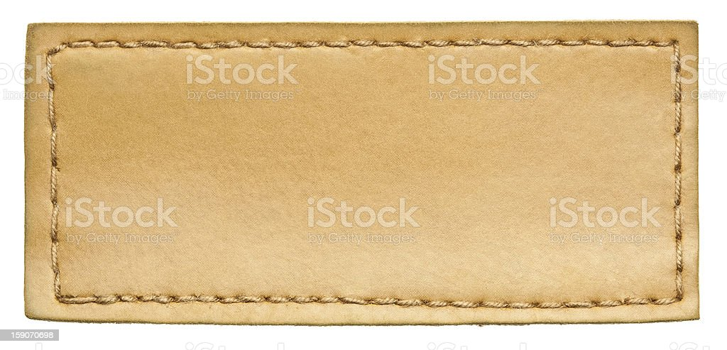 Jeans label stock photo
