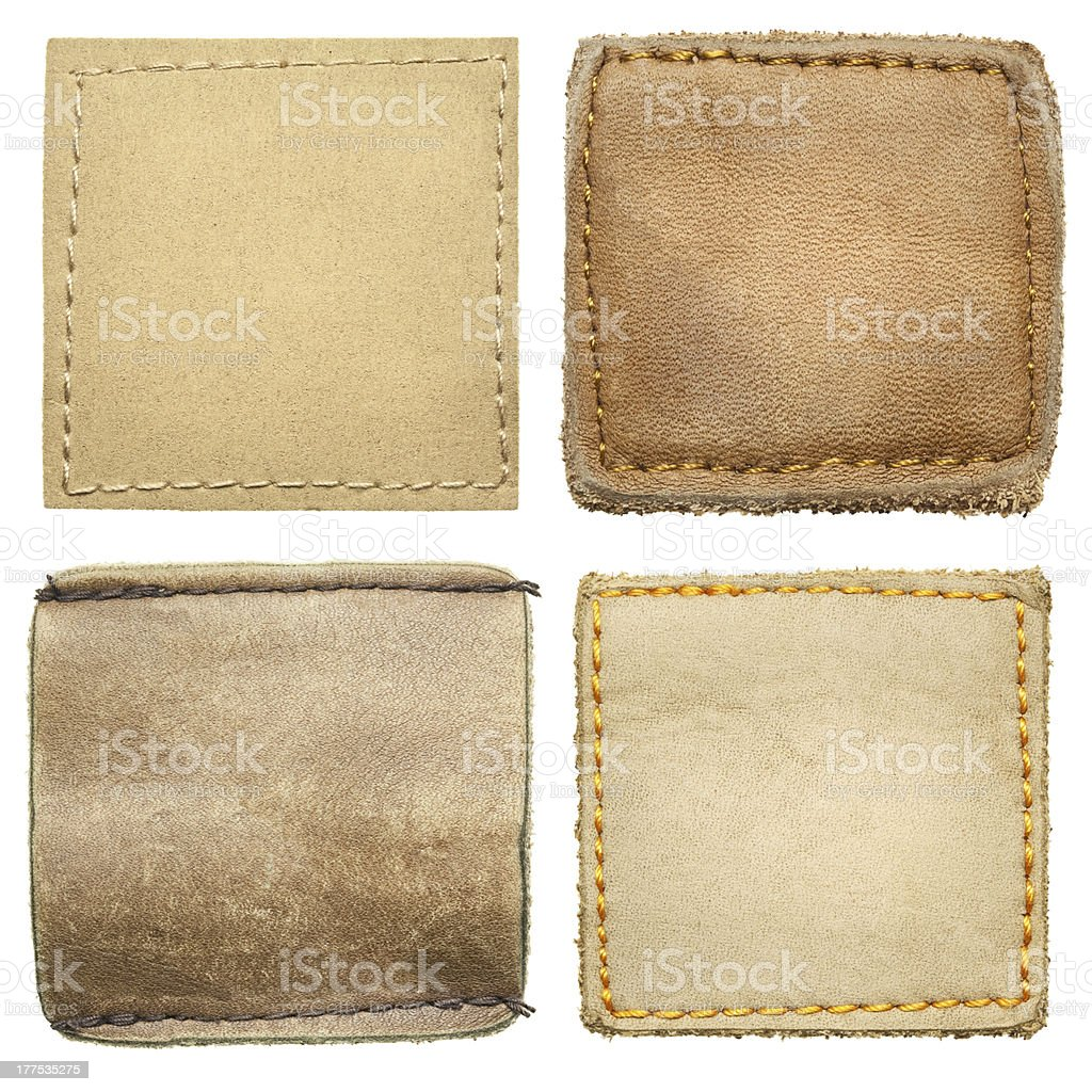 Jeans labels stock photo