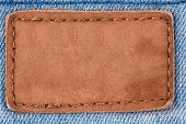 Jeans leather patch