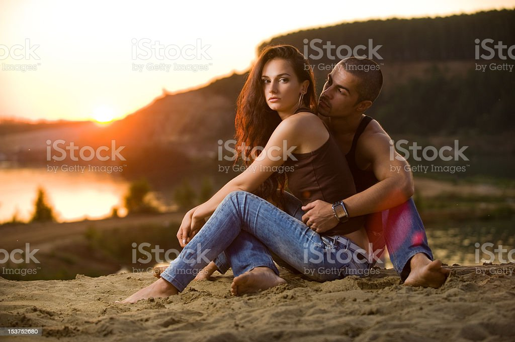 Jeans love royalty-free stock photo