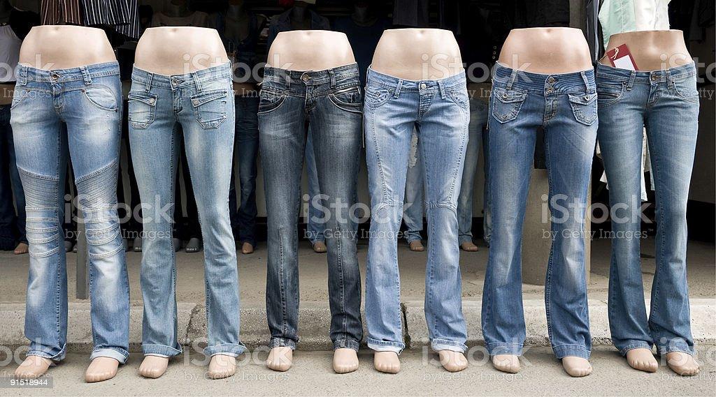 Jeans Market royalty-free stock photo