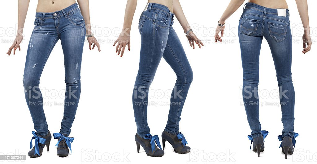 Jeans on a female model stock photo