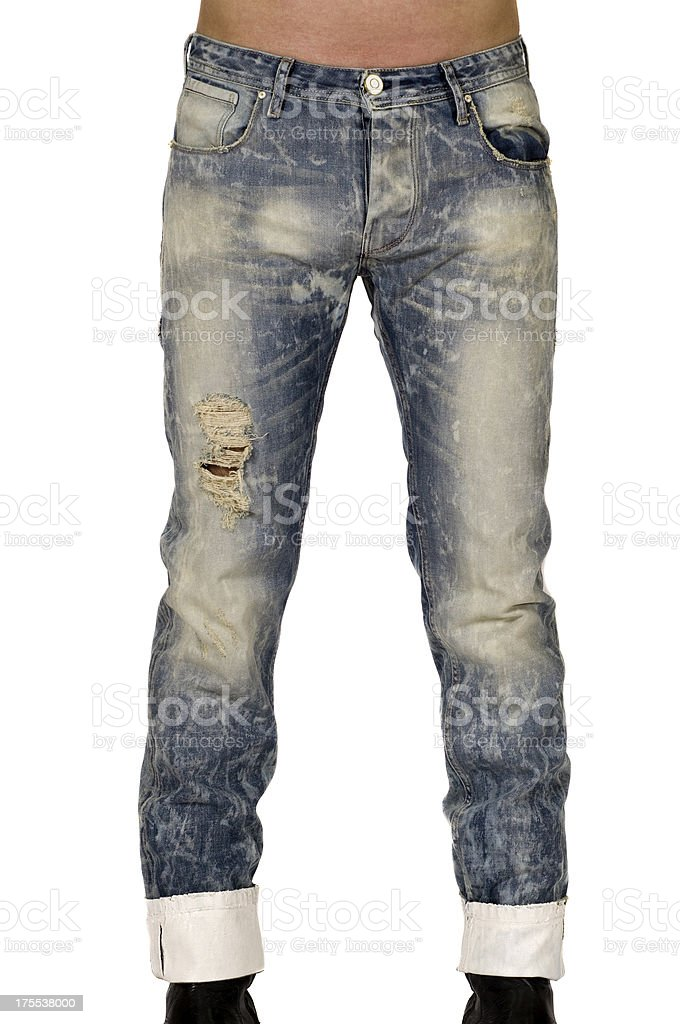 Jeans on a male model stock photo