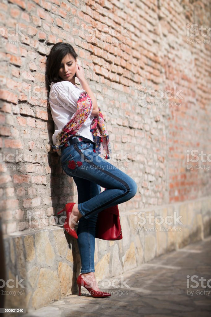 Jeans Outfit stock photo