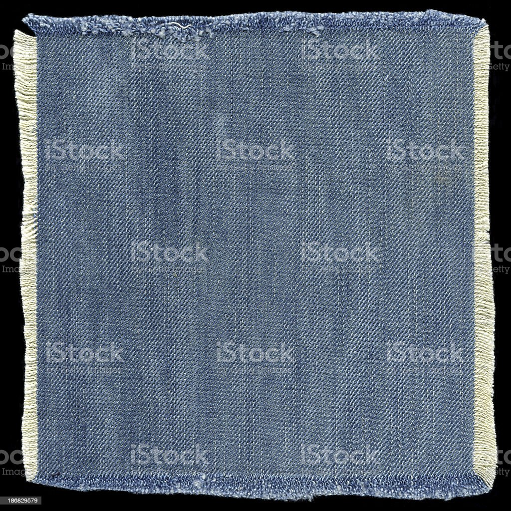 Jeans patch background textured isolated (XXXL) royalty-free stock photo
