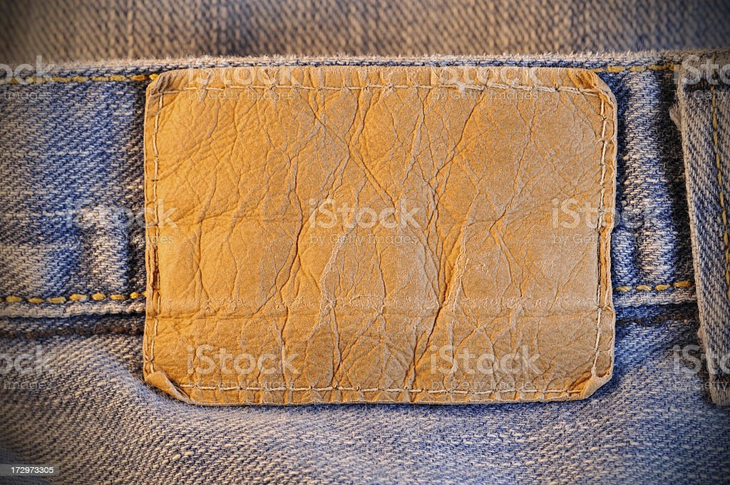 Jeans patch royalty-free stock photo