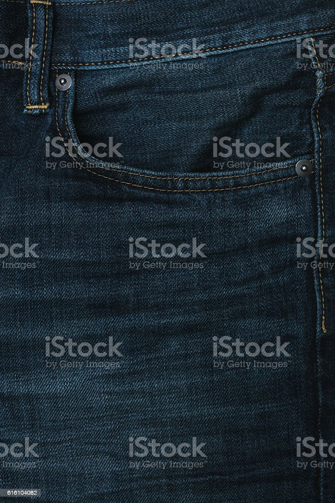 Jeans pocket background stock photo