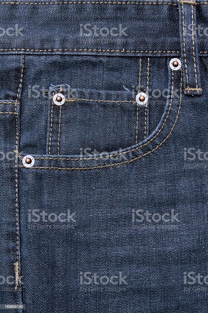 Jeans pocket background textured stock photo