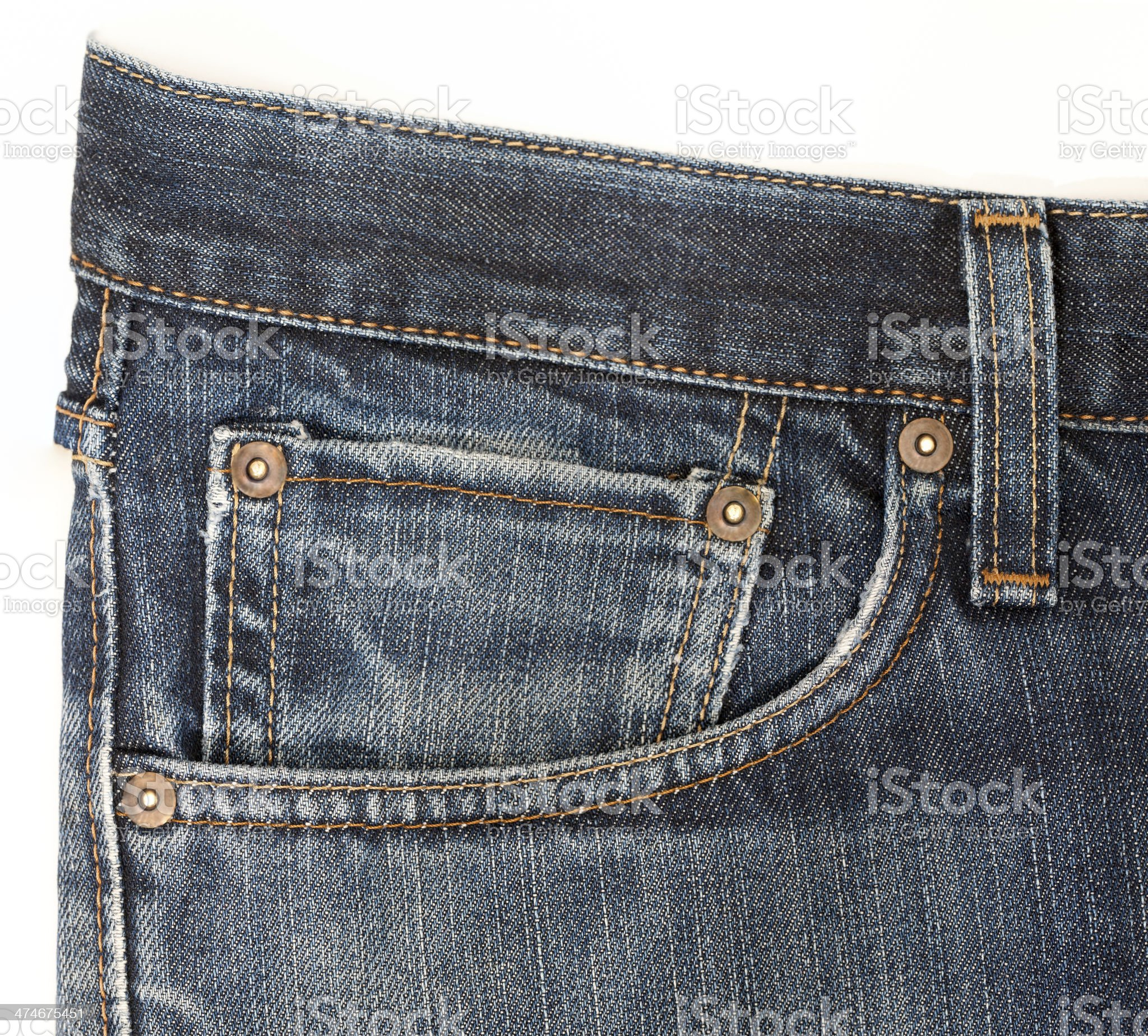 Jeans pocket royalty-free stock photo