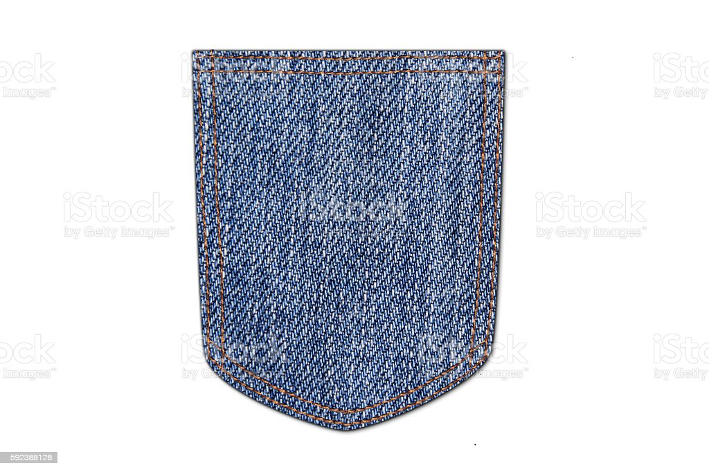 Jeans pocket. stock photo