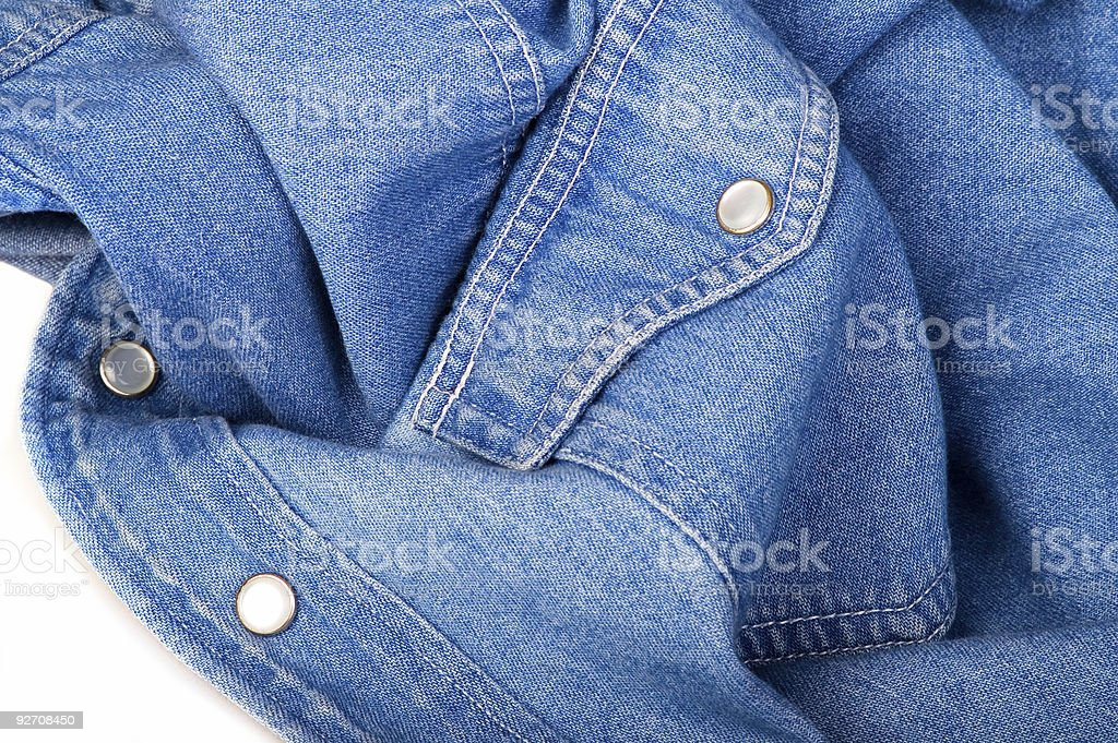 Jeans shirt stock photo