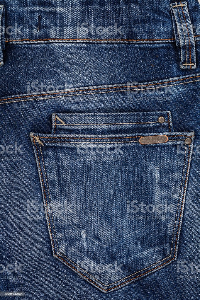 Jeans texture. Denim fabric background. stock photo
