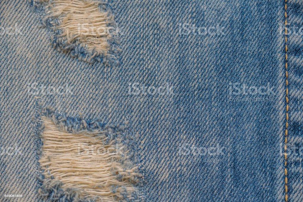 Jeans texture. Denim fabric background stock photo