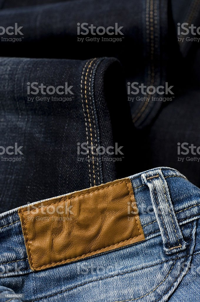 Jeans With A Blank Tab royalty-free stock photo