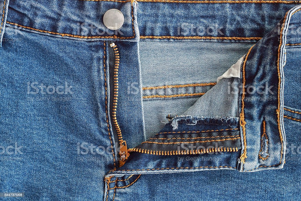 jeans zipper for pattern stock photo