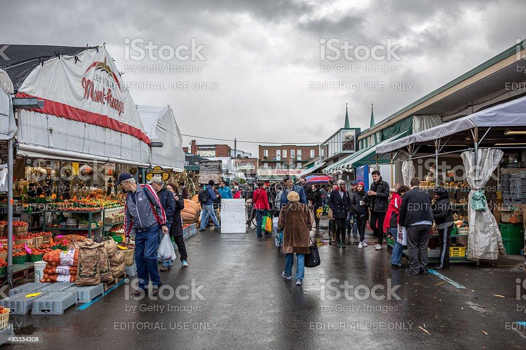 Jean-Talon Market, Montreal, Canada stock photo