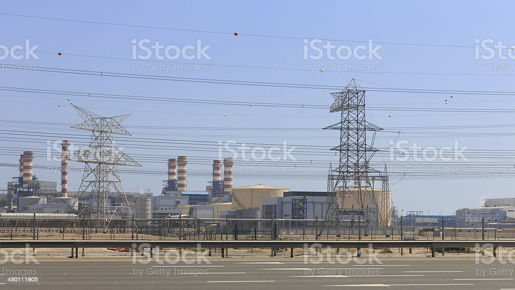 Jebel Ali Power Plant in Dubai, UAE royalty-free stock photo