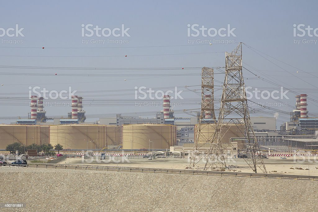Jebel Ali Power Plant in Dubai, UAE royalty-free stock photo