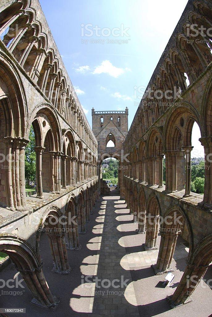 Jedburgh Abbey Interior stock photo