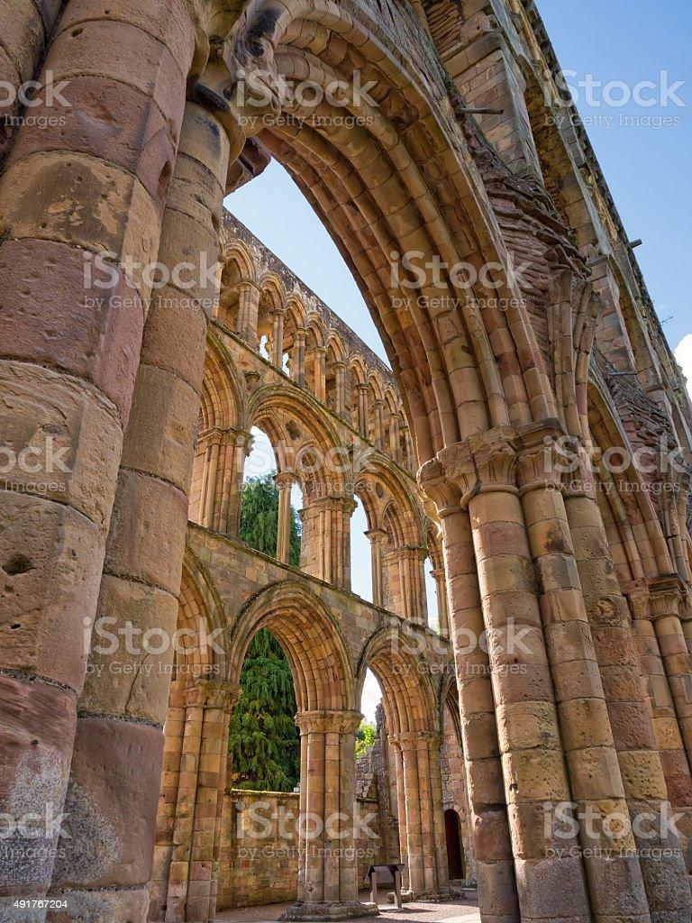 Jedburgh Abbey, Scotland stock photo