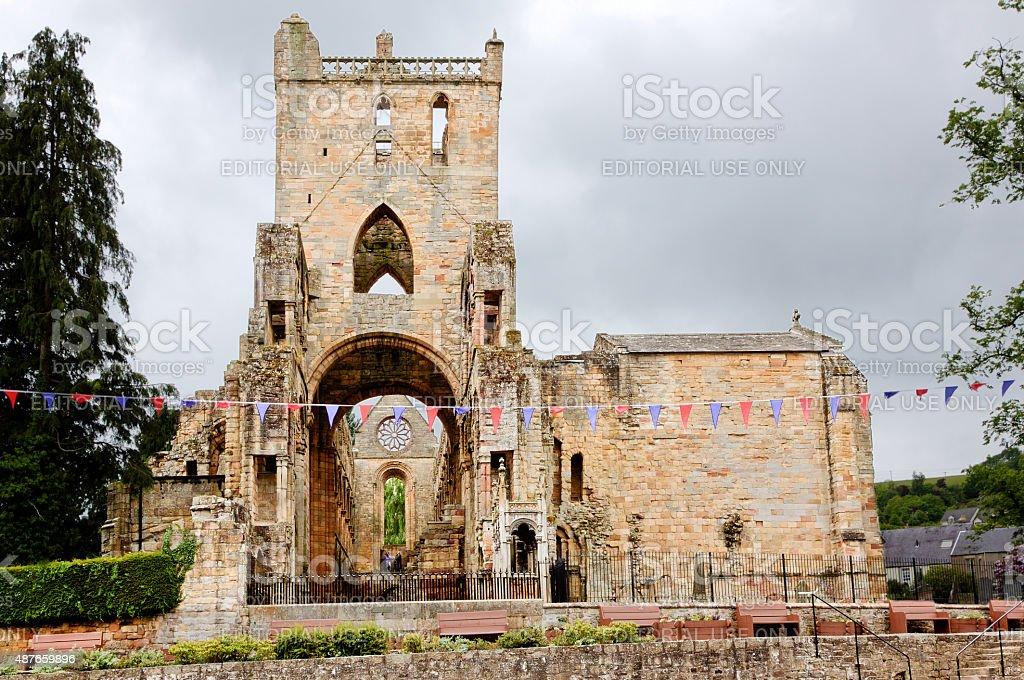 Jedburgh Abbey, Scotland, United Kingdom. stock photo