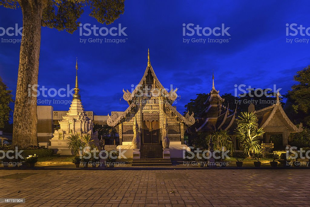 Jedi Luang Temple located at Chiang Mai , Thailand royalty-free stock photo