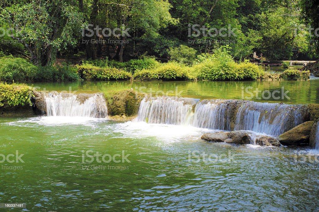 Jed-Sao-Noi waterfall - THAILAND royalty-free stock photo