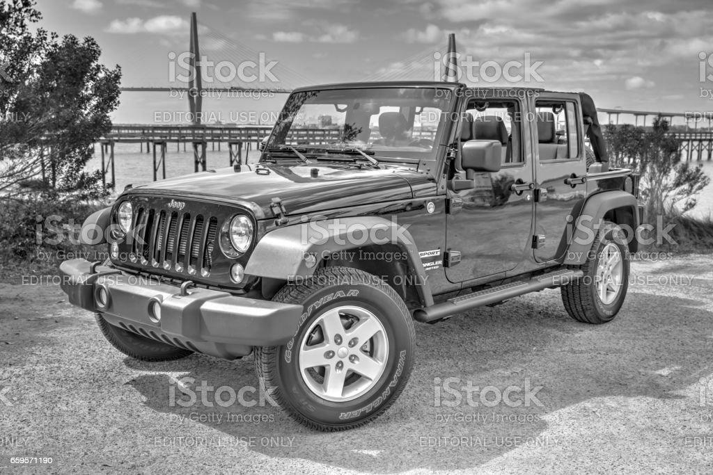Jeep B&W 1 stock photo