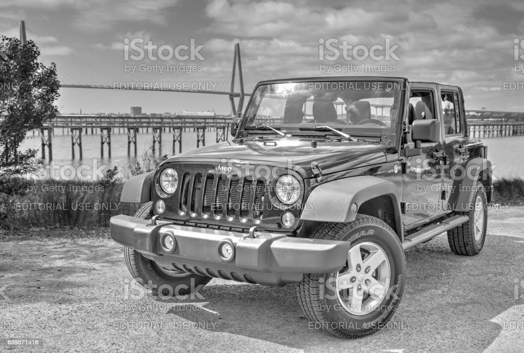 Jeep B&W 2 stock photo