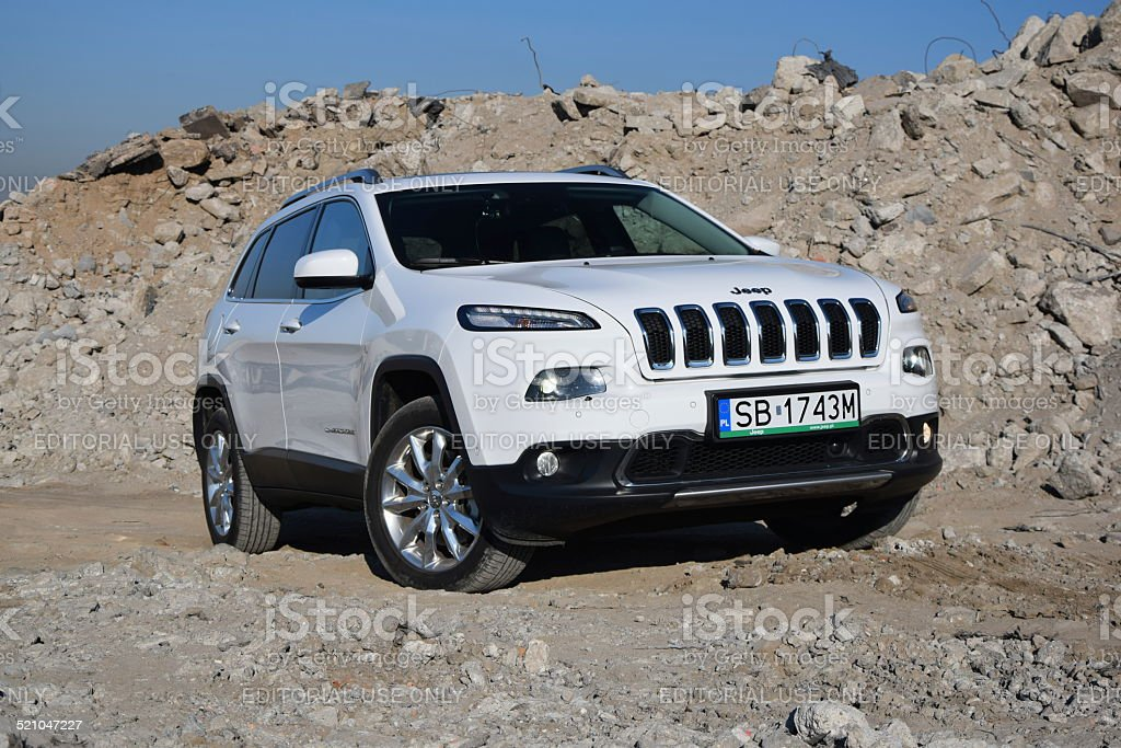 Jeep Cherokee at the test drive stock photo