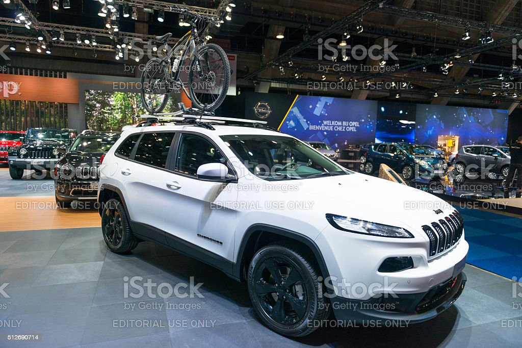 Jeep Cherokee crossover SUV stock photo