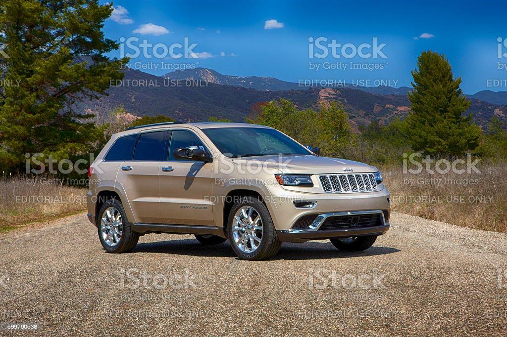 Jeep Cherokee model 2014 horizontal stock photo