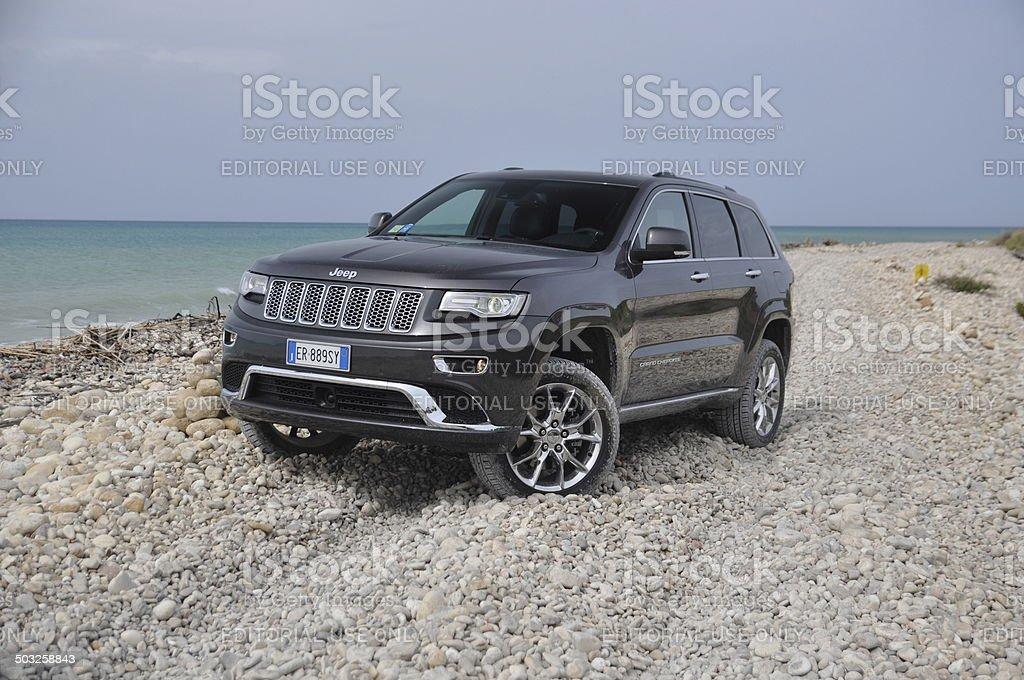 Jeep Grand Cherokee FL at the international press launch stock photo