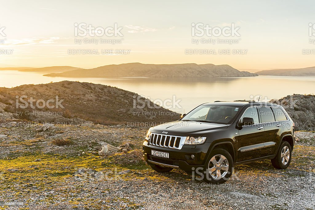 Jeep Grand Cherokee front stock photo
