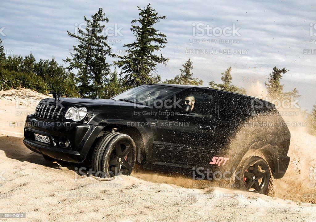 Jeep Grand Cherokee SRT-8 stock photo