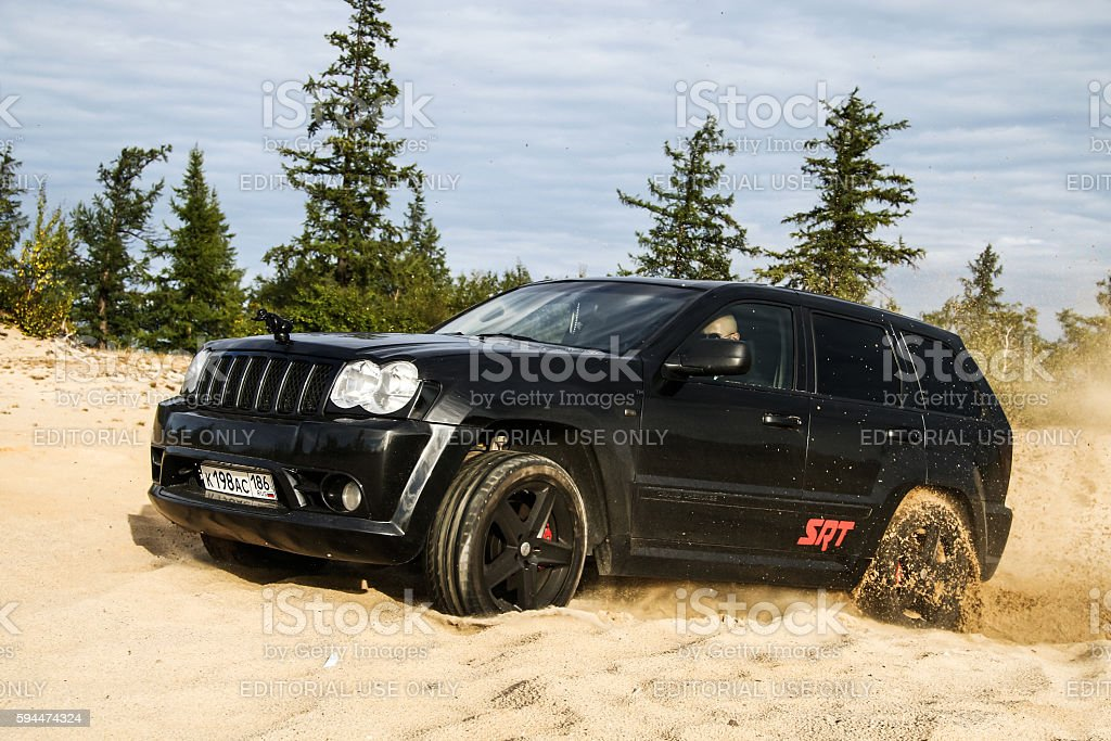 Jeep Grand Cherokee SRT-8 stock photo
