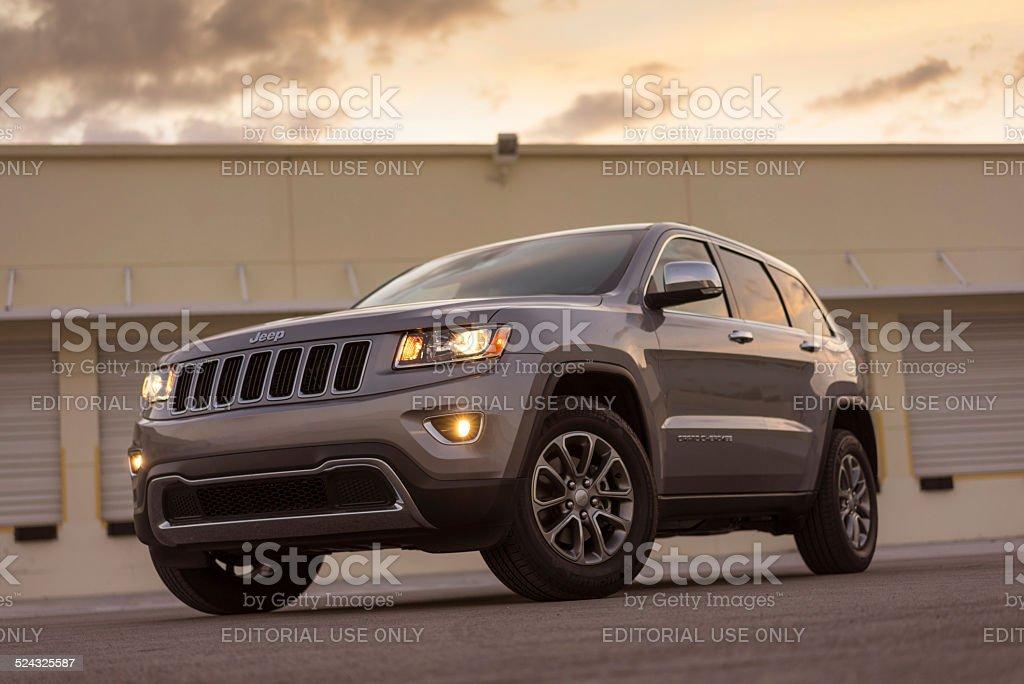 Jeep Grand Cherokee SUV 2014 stock photo