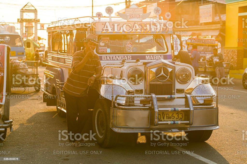 Jeep in Batangas, Philippines stock photo