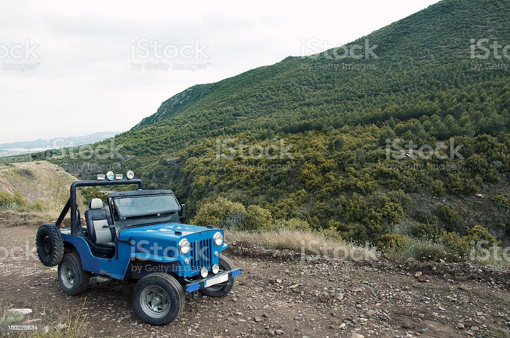 Jeep in Nature royalty-free stock photo
