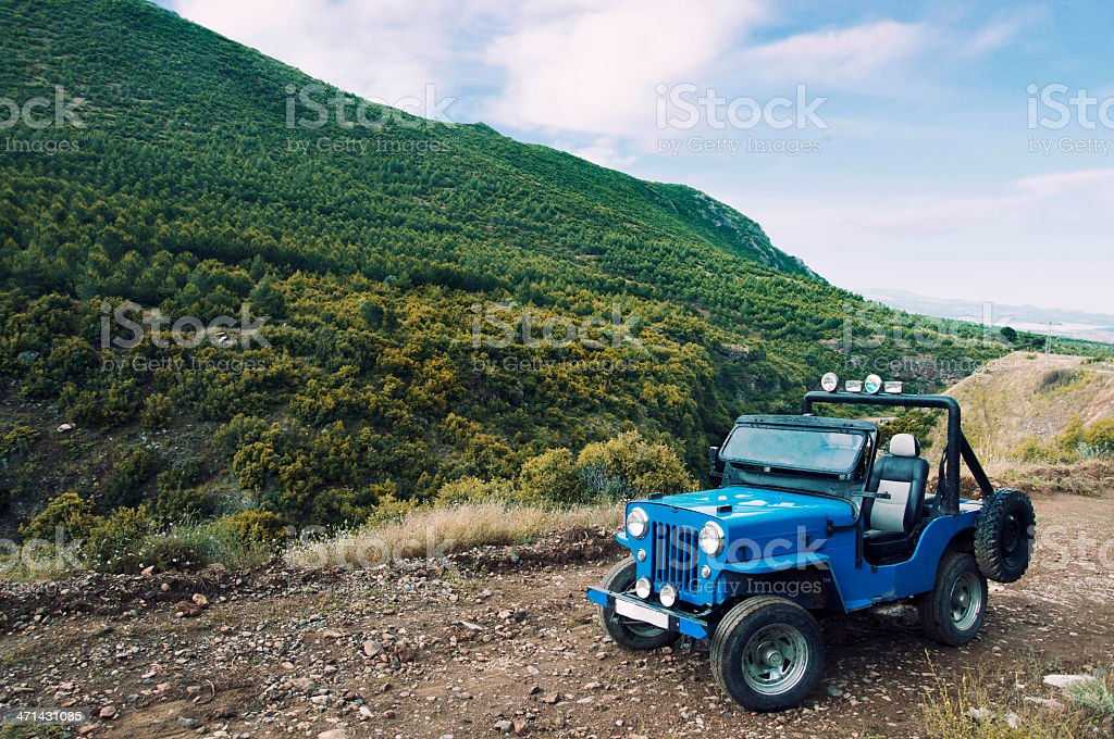 Jeep in Nature stock photo