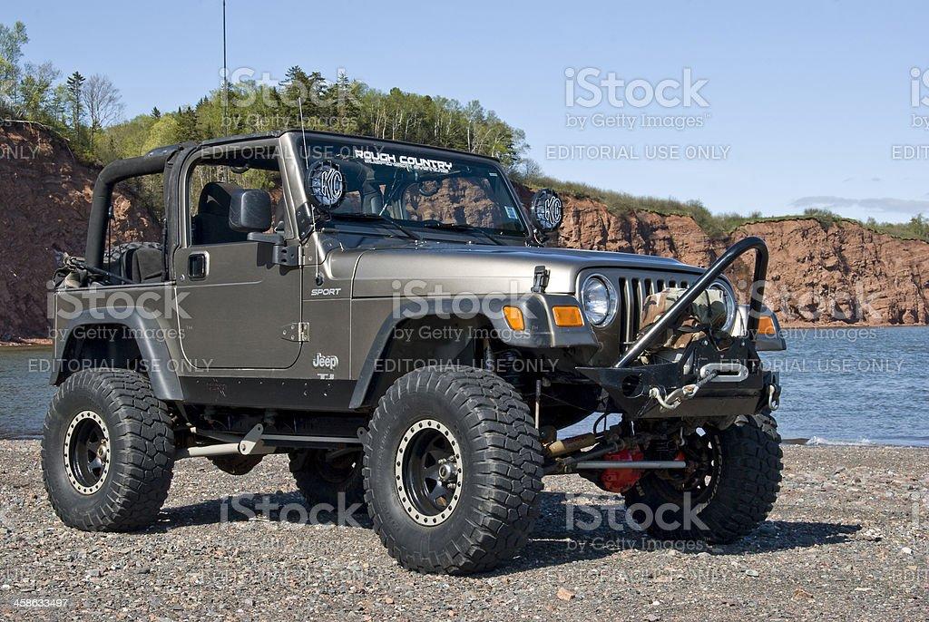 Jeep on the Beach stock photo