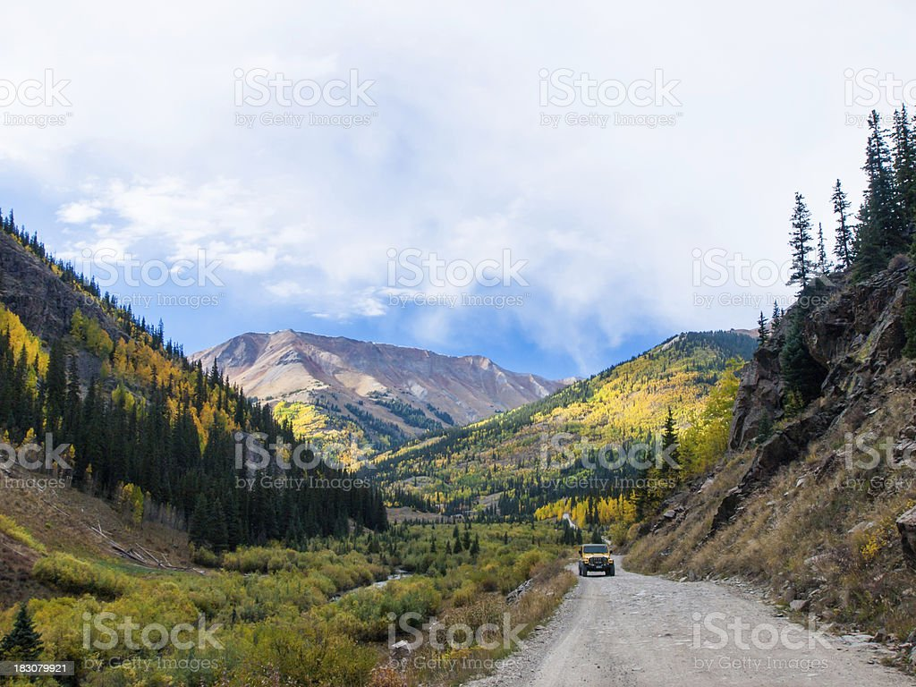 Jeep on the road royalty-free stock photo
