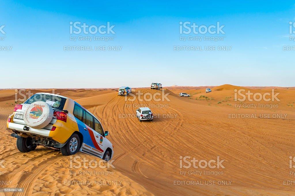 Jeep safari in Dubai stock photo