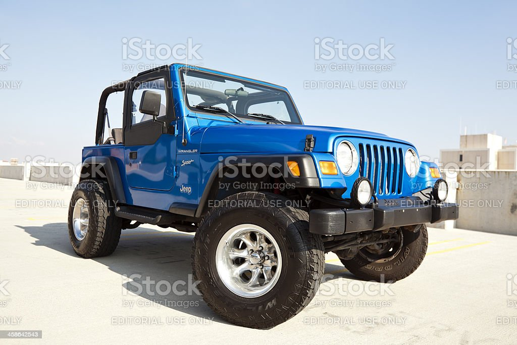 Jeep Wrangler 2002 royalty-free stock photo