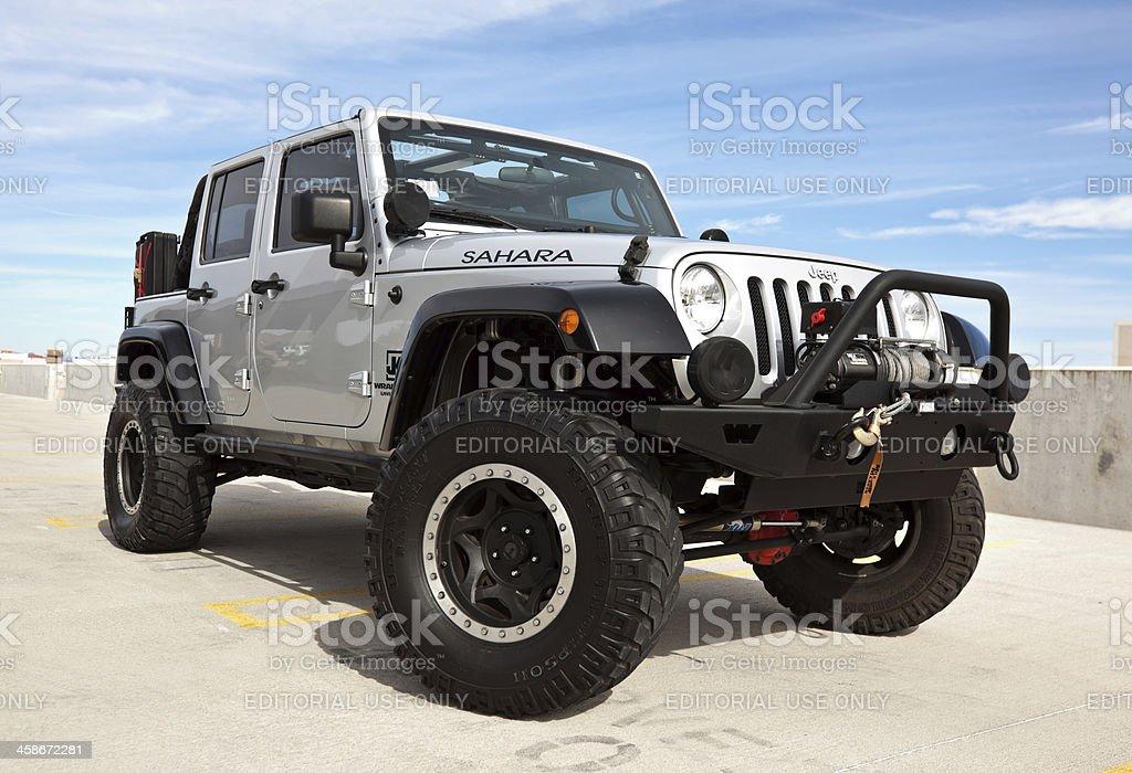 Jeep Wrangler 2008. stock photo