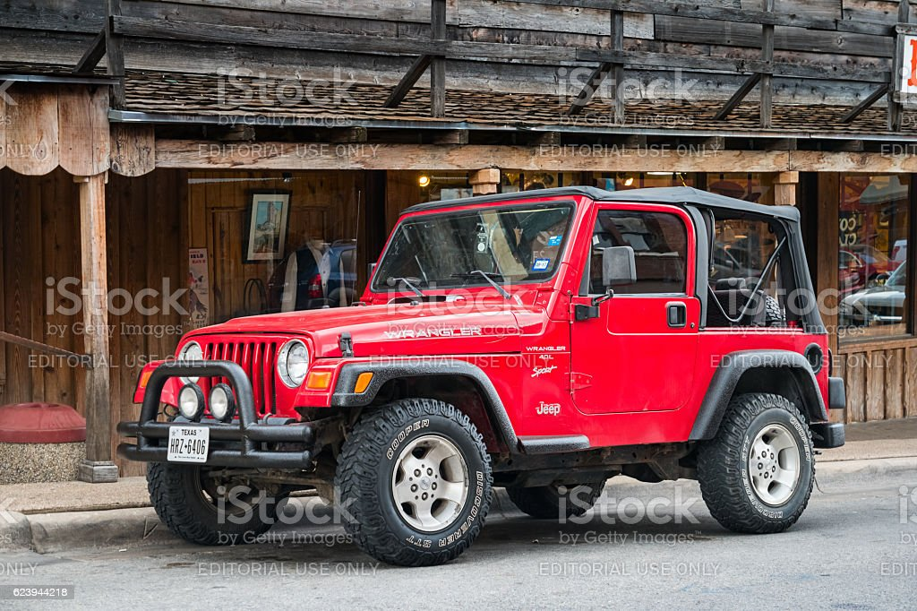 Jeep Wrangler TJ 4.0 L Sport Convertible stock photo