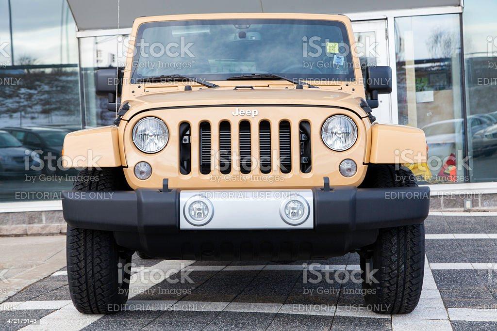 Jeep Wrangler Unlimited Sahara stock photo